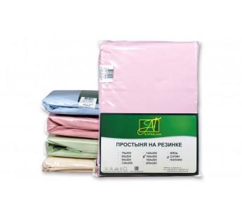 ПР-СО-Р-160-РОЗ Розовая простыня Сатин однотонный на резинке 160х200х25