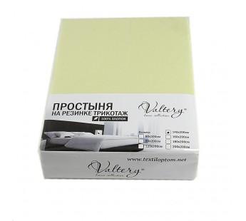 Простынь на резинке трикотажная (PT салатовая) 140x200 Вальтери Трикотаж
