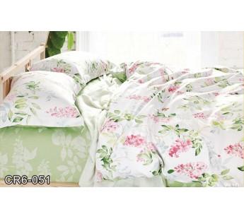 CR-051 семейный комплект постельного белья сатин люкс Retrouyt