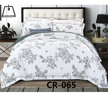 CR-065 семейный комплект постельного белья сатин люкс Retrouyt
