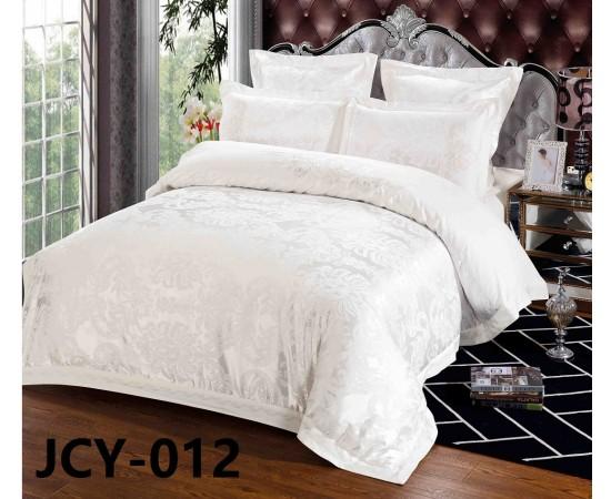 Комплект постельного белья JCY-012 евро сатин-жаккард с вышивкой Retrouyt