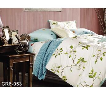 CR-053 семейный комплект постельного белья сатин люкс Retrouyt