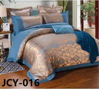 Комплект постельного белья m-16 евро сатин-жаккард с вышивкой Retrouyt