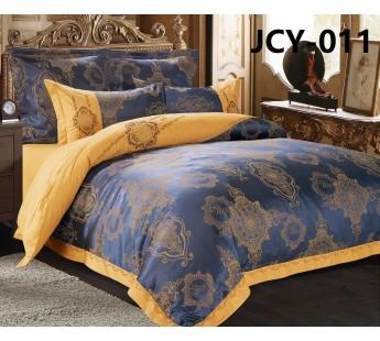 Комплект постельного белья m-11 евро сатин-жаккард с вышивкой Retrouyt