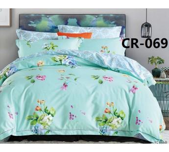 CR-069 семейный комплект постельного белья сатин люкс Retrouyt