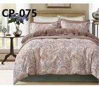 CP-075 евро комплект постельного белья  сатин Retrouyt