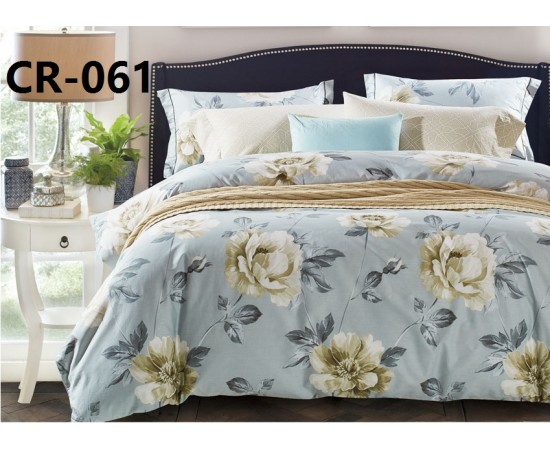 CR-061 семейный комплект постельного белья сатин люкс Retrouyt