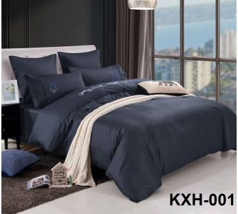 LOFT-01 однотонный комплект постельного белья евро сатин люкс с вышивкой Retrouyt