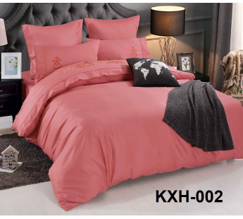 LOFT-02 однотонный семейный комплект постельного белья сатин люкс с вышивкой Retrouyt