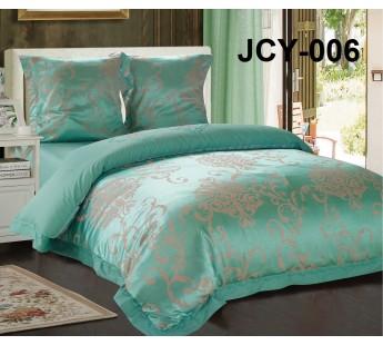 Комплект постельного белья m-6 евро сатин-жаккард с вышивкой Retrouyt