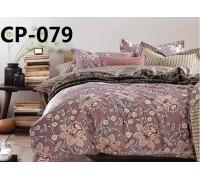 CP-079 евро комплект постельного белья  сатин Retrouyt
