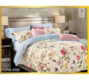 059  Комплект постельного белья евро сатин люкс Retrouyt