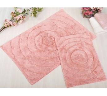 WAVES Pembe (розовый) Коврик для ванной 70x120 IRYA Хлопок