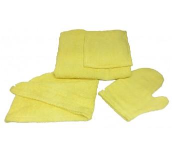Лимонный W81-001 Сауна Махровая Женская ( Килт 120х80+чалма+варежка ) ITUMA