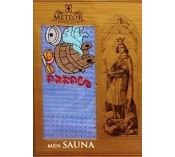 Голубой Вафельная Сауна мужская арт.8345 Килт 75х150 в коробке Метеор
