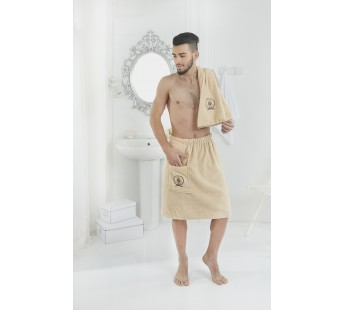 2608 Кофейный PAMIR Сауна муж.. махра в подарочной упаковке Карна