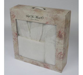 LINDA (крем) S-M Комп.из халата и полотенец