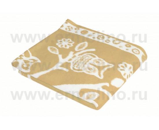 Бежевое Байковое жаккард 100х140 100% х/б арт. 57-8ЕТЖ Ермолино одеяло