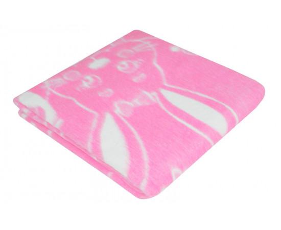 Розовое Байковое 100х140 арт. 57-5ЕТОЖ 90% х/б Ермолино одеяло