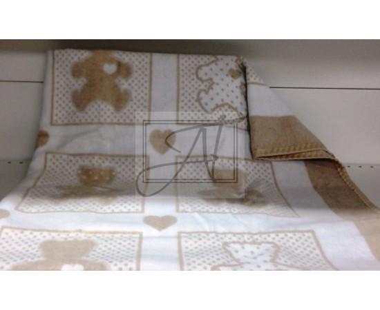 Одеяло маленькое Барни 100% х/б 100х140 бело-бежевое