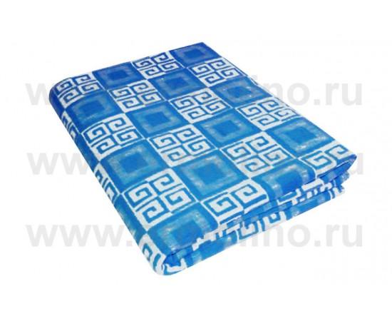 Синее Байковое жаккард 215х150 100% х/б арт. 5772ВЖК Ермолино одеяло