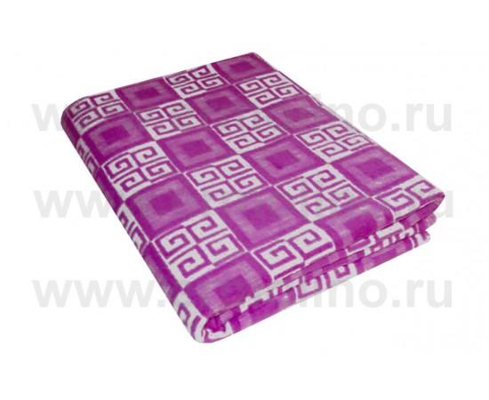 Сиреневое Байковое 205х140 арт. 5772В 75% х/б +25% вискоза клетка Ермолино одеяло