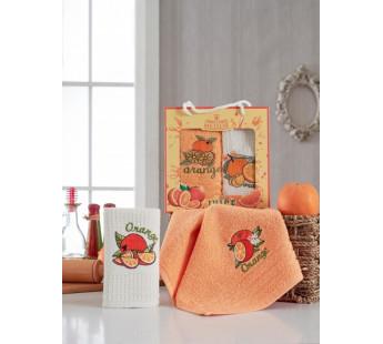 9660 Апельсин М (30х50)х2шт в коробке Набор кухонный Метеор
