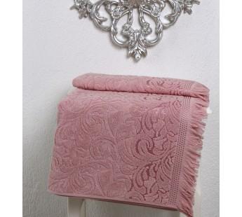 """Полотенце махровое """"KARNA"""" ESRA (50х90) см 1/1 Розовый"""