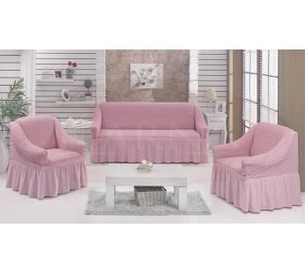 "Набор чехлов дла дивана ""EVERY"" 3+1+1 Светло-розовый"