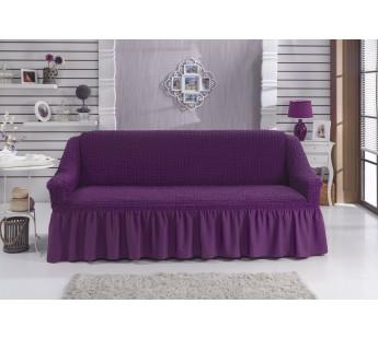 """Чехол для дивана """"BULSAN"""" трехместный Фиолетовый"""