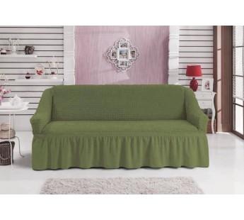 """Чехол для дивана """"BULSAN"""" трехместный Зеленый"""