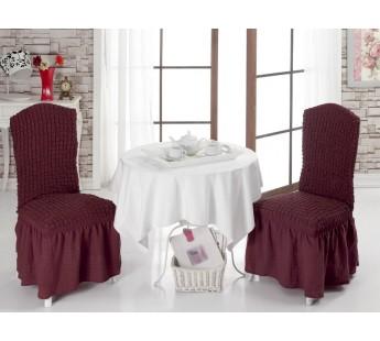 Чехлы на стулья 1/2 Бордовый