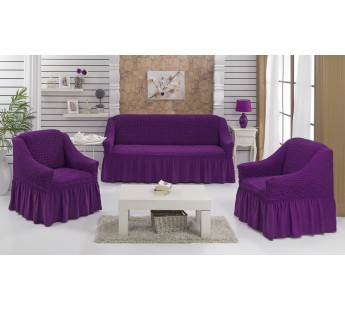 "Набор чехлов дла дивана ""BULSAN"" 3+1+1 Фиолетовый"