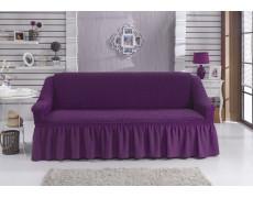 """Чехол для дивана """"BULSAN"""" двухместный Фиолетовый"""