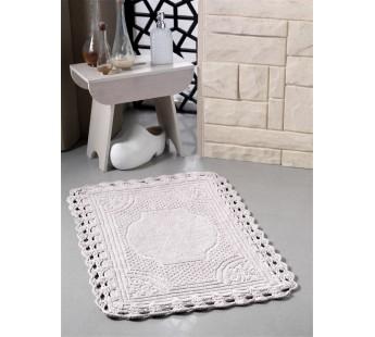 """Коврик для ванной """"MODALIN"""" кружевной FLORA 55x90 см 1/1"""
