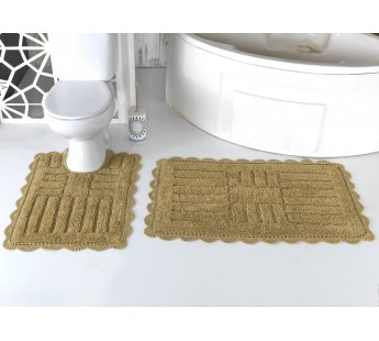 """Набор ковриков для ванной """"MODALIN"""" кружевной ANCOR 60x100 + 50x70 см 1/2"""