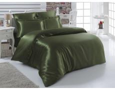 Постельное белье шелк евро Турция Зеленый