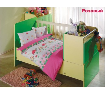 """Постельное белье """"Altinbasak"""" для новорожденных NESELI Розовый"""