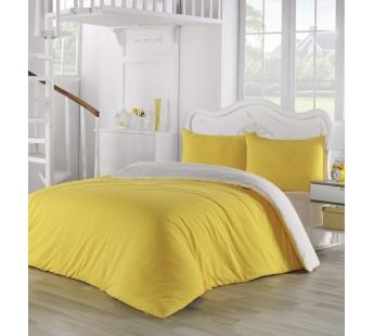 Постельное белье трикотажное Желтый-Кремовый