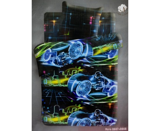 Мото 3D вид 1 For you КПБ 1,5 бязь рис. 8667+8668 284377