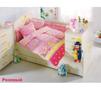 """Постельное белье """"Altinbasak"""" для новорожденных VAK VAK Розовый"""