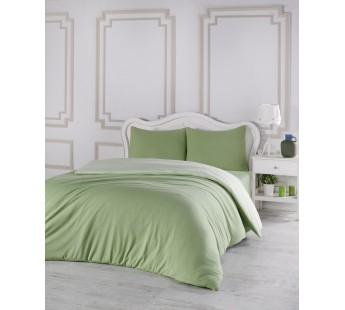 Постельное белье трикотажное Зеленый - Светло-зеленый