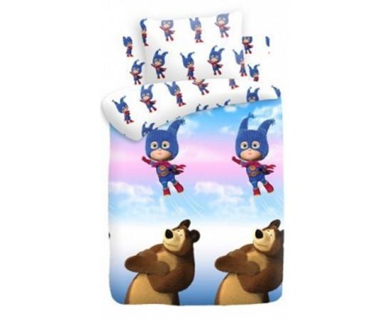 Маша супергерой вид 1 Маша и медведь КПБ детский бязь рис. 8700+8701 вид 1 314913