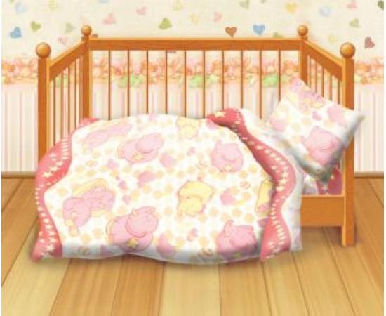 Спокойной ночи вид-1 Кошки-мышки  КПБ детский бязь рис. 8547-1 262027