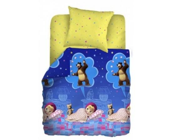 Машин сон вид 1 Маша и медведь КПБ детский бязь рис. 8417 вид 1 244355