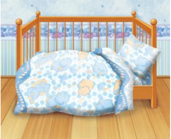 Спокойной ночи вид-2 Кошки-мышки  КПБ детский бязь рис. 8547-2 262028