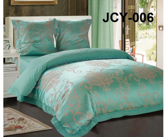 Комплект постельного белья JCY-006 евро сатин-жаккард с вышивкой Retrouyt