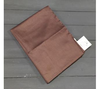 Н-С-50-ШОК шоколадная наволочка ткань сатин 2шт.-50х70