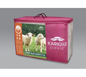 """Одеяло из овечьей шерсти всесезонное """"Медея"""" 200х220"""