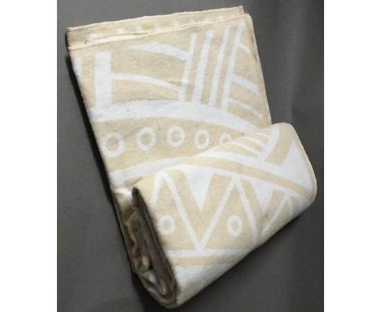 Одеяло Перу 100% х/б 140х205 бел-беж